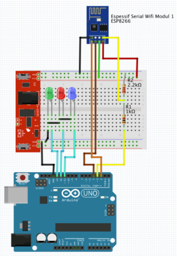 ES8266_Arduino_UNO_GPIO_Control